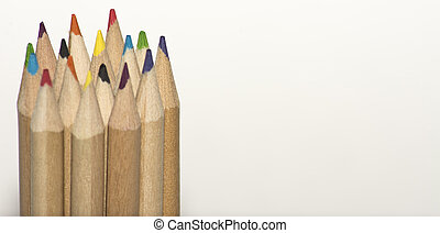 coloured pencil tips and copy space - Some coloured pencil ...