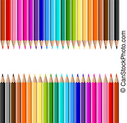 Background of lots of coloured pencils