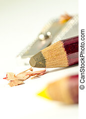 coloured pencils sharpened