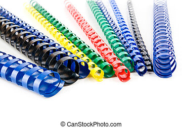 coloured springs on a white background
