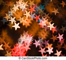 coloured stars as abstract background