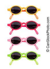 Coloured Sunglasses Set