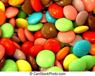 Coloured Sweets - Sweeeeeeties. Mmmmm!