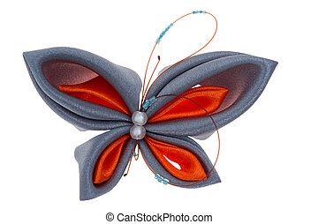 toy butterfly made of ribbons