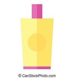 Coloured vector illustration of a body lotion