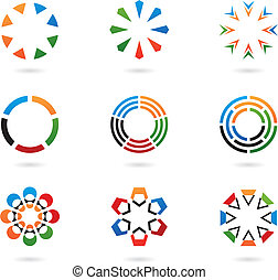 colourful abstract design elements - colourful abstract...