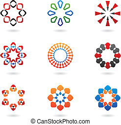 colourful abstract icons