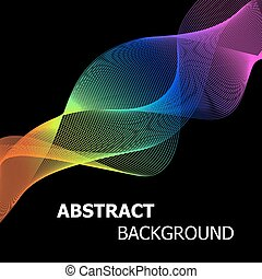 Colourful abstract lines wave background