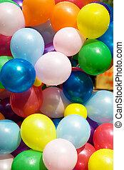 Colourful air balloons.