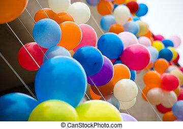 Colourful air balloons. Air baloons festival, Novosibirsk,...