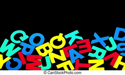 Colourful alphabet forming from pil