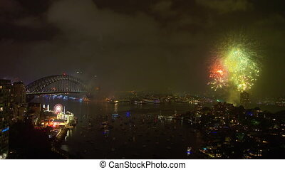 Colourful and big fireworks display in Australia - An...
