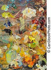 Colourful Artist's Palette
