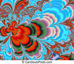 Colourful  background, fractal art