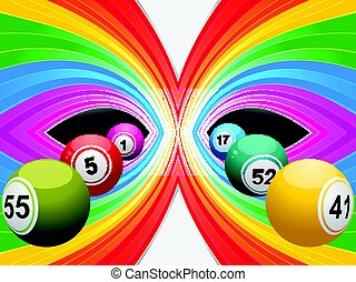 Colourful background with bingo lottery balls
