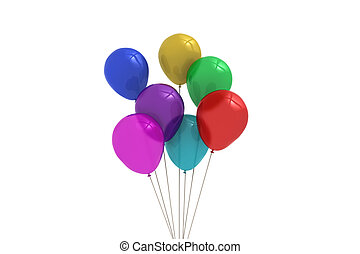 colourful, balloons