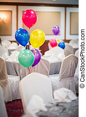 Colourful balloons decoration