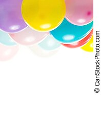 Colourful balloons isolated on white