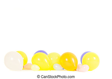 Colourful balloons isolated with copy space
