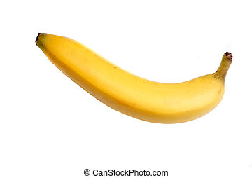 Colourful banana over white background