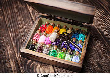 colourful beads