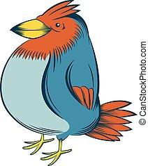 Colourful big bird