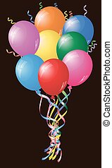 Colourful Birthday Or Party Balloons