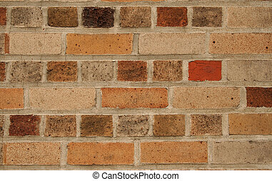 Colourful brick wall background