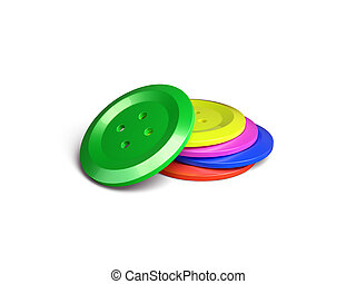 Colourful buttons isolated on the white background