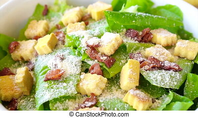 colourful caesar salad healthy meal - Beautiful colourful...