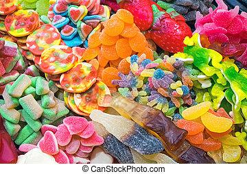 Colourful candy at the Boqueria in Barcelona