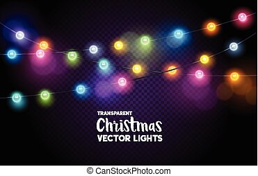 Colourful Christmas Fairy Lights - A collection of colourful...