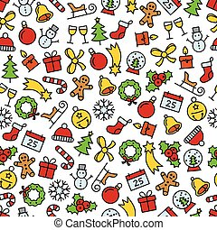 colourful christmas seamless pattern