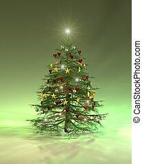 Colourful Christmas tree - A colourful christmas tree...