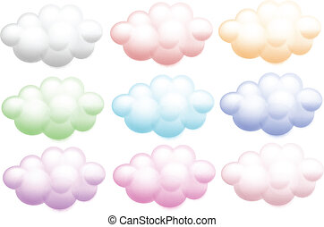 Colourful clouds - Illustration of the colourful clouds on a...