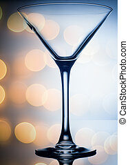 colourful coctail glass on the light background