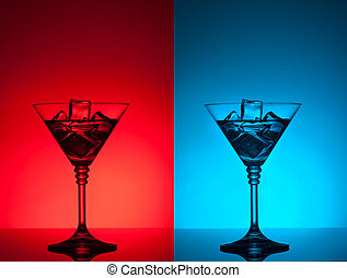 colourful coctail on the differend backgrounds