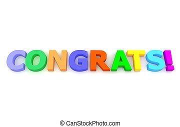 Colourful Congratulations - multicoloured letters Congrats...