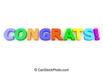Colourful Congratulations - multicoloured letters Congrats...