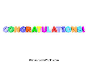 Colourful Congratulations - multicoloured letters...