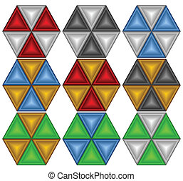 Colourful decorative elements.