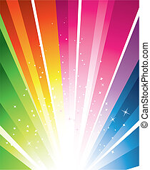 Colourful Design - A colourful design with a burst and stars