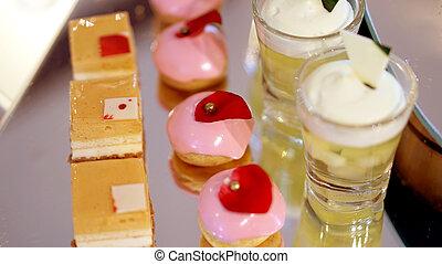colourful dessert buffet, afternoon high tea