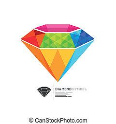 Colourful Diamond Symbol