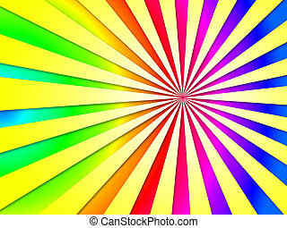 Colourful Dizzy Striped Tunnel Background Shows Dizzy...