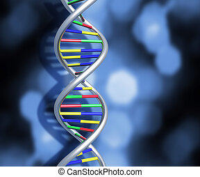 DNA strands - Colourful DNA strands on abstract background