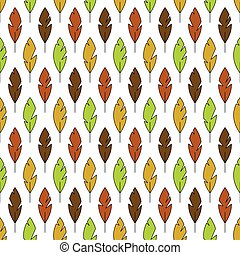 colourful feather seamless pattern