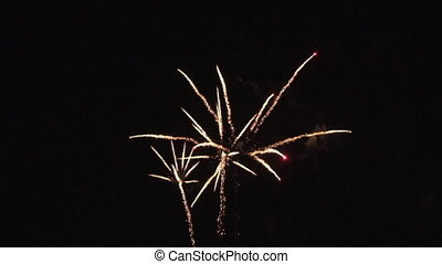 Colourful fireworks in slow motion. - Colourful fireworks in...