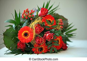 Colourful Floral Bouquet - Colourful floral bouquet of...