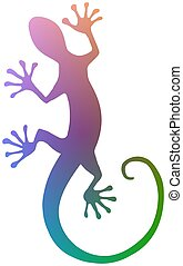Colourful Gecko - Illustration of a colourful isolated Gecko
